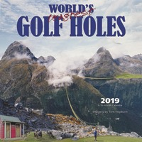 World's Toughest Golf Holes 2019 Square Wall Calendar