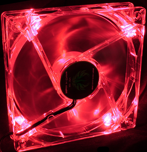 120mm LED Fan - Red