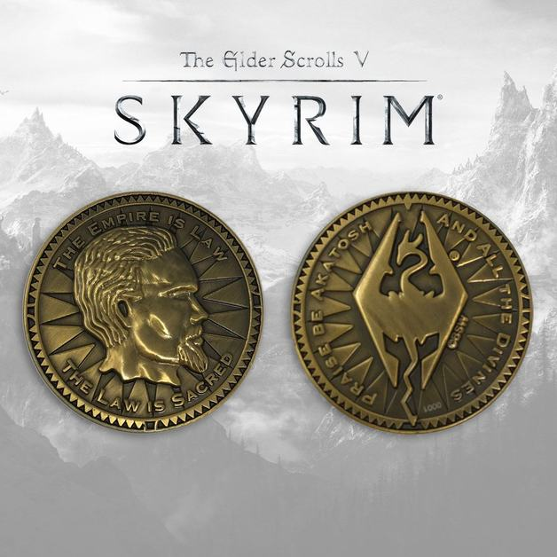 Elder Scrolls Skyrim: Collectable Coin -The Empire Is Law
