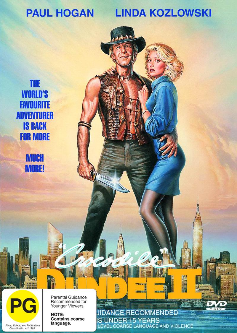 Crocodile Dundee II on DVD image
