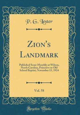 Zion's Landmark, Vol. 58 by P G Lester image