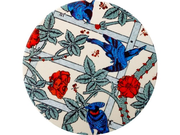 Casa Domani: William Morris Ceramic Coaster - Trellis