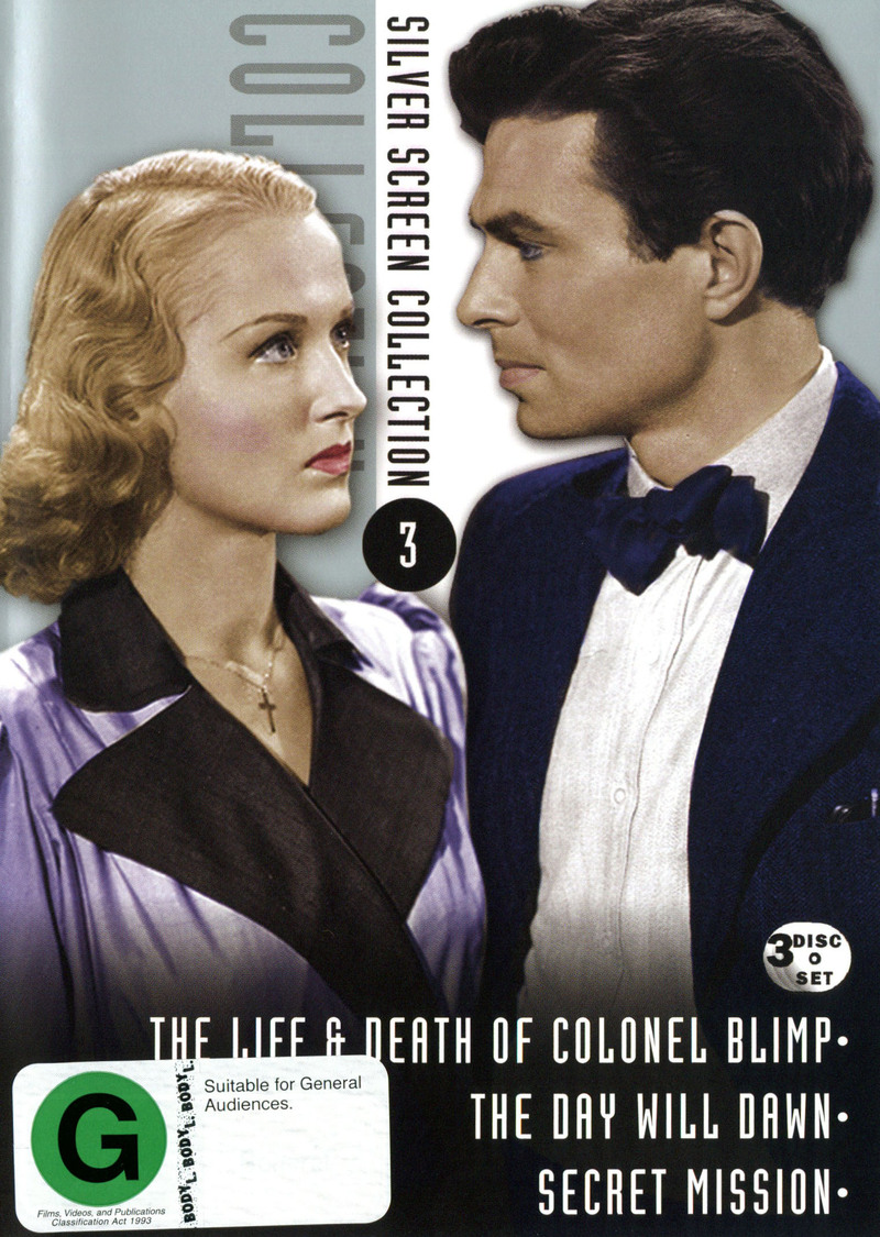 Silver Screen Collection 3 (Life And Death Of Colonel Blimp / Day Will Dawn / Secret Mission) (3 Disc Set) on DVD image