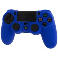 Pro Soft Silicone Protective Cover with Ribbed Handle Grip - Blue for PS4
