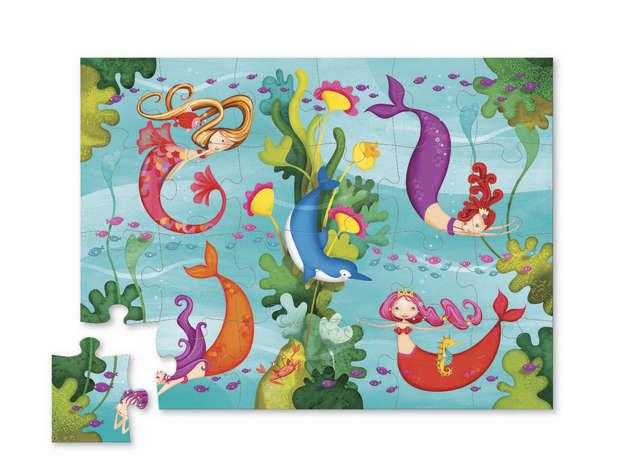 Crocodile Creek: Mini Shaped Puzzle - Mermaids (24pc)