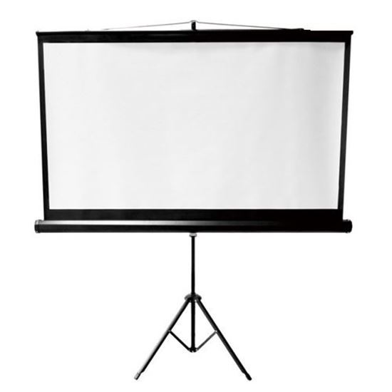 """BRATECK: 100"""" Projector Screen with Tripod. 4:3 Aspect Ratio. 2m x 1.5m (WxH)."""
