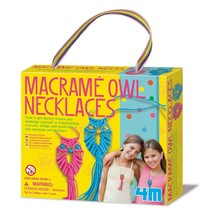 4M: Craft - Macramé Owl Necklaces