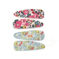 Goody Gumdrops: Liberty Betsy Ann Felt Lined Snaps - Pink/Teal image