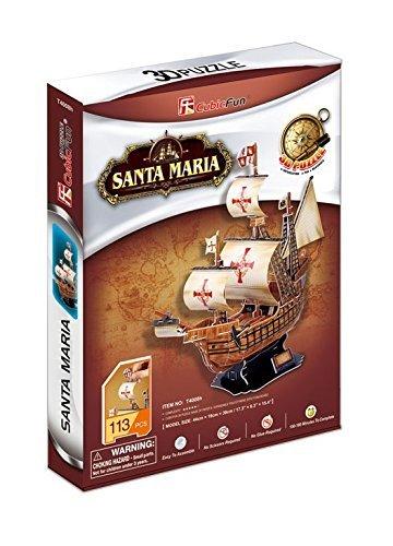 Cubic Fun: Santa Maria - 93 Piece 3D Puzzle