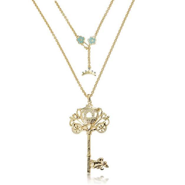 Couture Kingdom: Disney - Princess Cinderella Necklace (Yellow Gold)