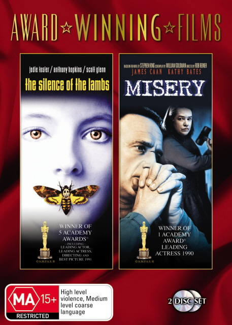 Silence Of The Lambs / Misery (Award Winning Films) (2 Disc Set) on DVD image