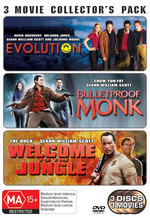 Evolution / Bulletproof Monk / Welcome To The Jungle - 3 Movie Collector's Pack (3 Disc Set) on DVD