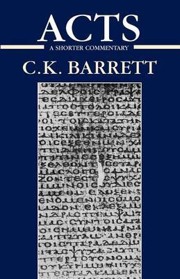The Acts of the Apostles by C.K. Barrett image