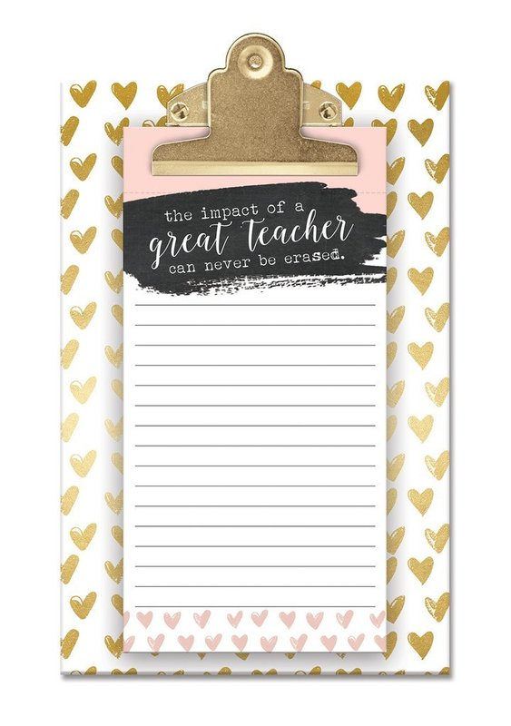 Lady Jayne: Small Clipboard With Notepad - Great Teacher
