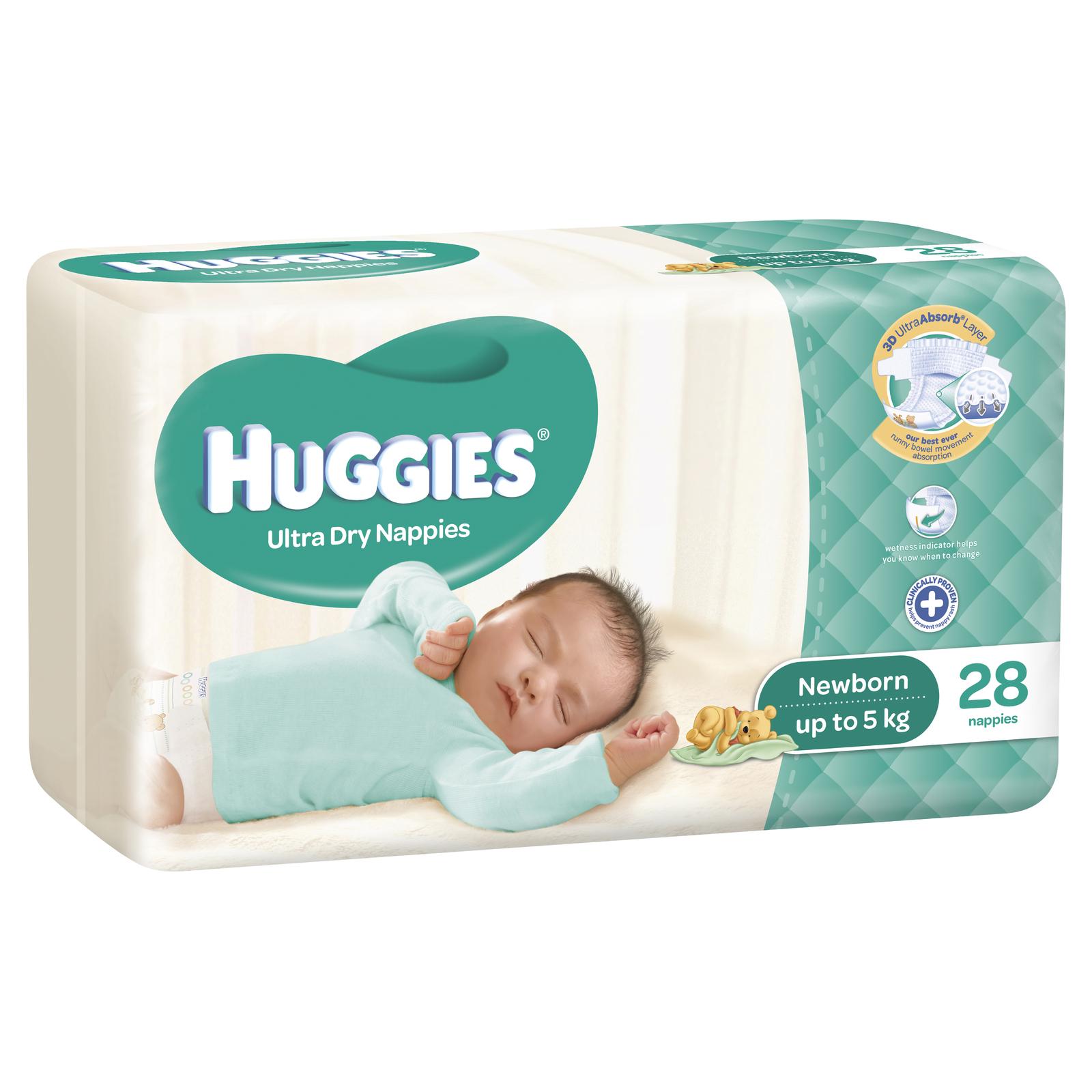 buy huggies ultra nappies newborn at mighty ape australia