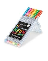 Staedtler Triplus Fineliner Wallet 6 Neon Colours