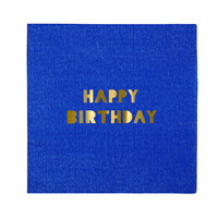 Meri Meri - Happy Birthday Small Napkins (16 Pack)