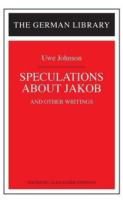 Speculations About Jakob by Uwe Johnson image