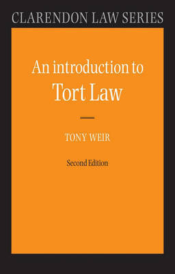 An Introduction to Tort Law by Tony Weir