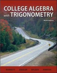 College Algebra with Trigonometry by Michael Ziegler image