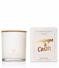 Living Light: Soy Jar Candle (Champagne & Cassis)
